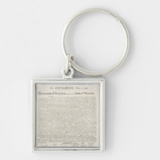 Declaration of Independence Document Keychain