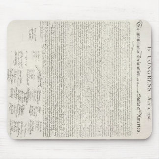 Declaration of Independence Document Mouse Pad