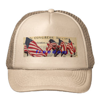 Declaration Of Independence, flags & freedom Trucker Hat