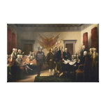 Declaration Of Independence Gas Canvas Canvas Print