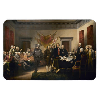 Declaration Of Independence Gas Card Rectangular Photo Magnet