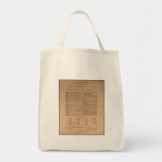 Declaration of Independence Grocery Tote Bag
