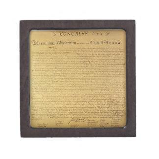 Declaration of Independence Keepsake Box