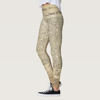 Declaration of Independence Leggings