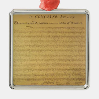 Declaration of Independence Metal Ornament