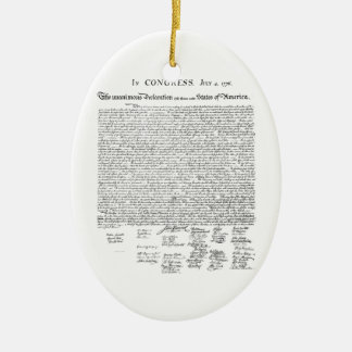 Declaration of Independence Christmas Tree Ornament