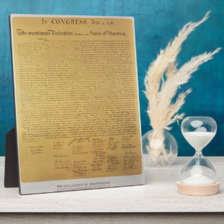 Declaration of Independence Photo Plaques