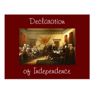 Declaration of Independence Post Card