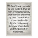 Declaration of Independence Postcard