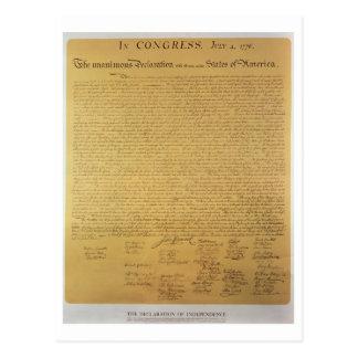 Declaration of Independence Postcards