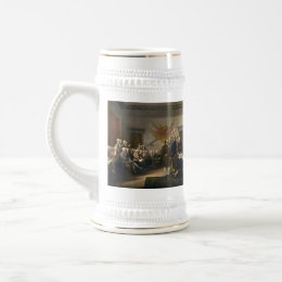 Declaration of Independence Presented To Congress Beer Stein