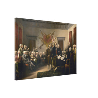 Declaration Of Independence Presented To Congress Canvas Print