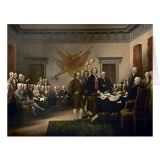 Declaration of Independence Presented To Congress Card