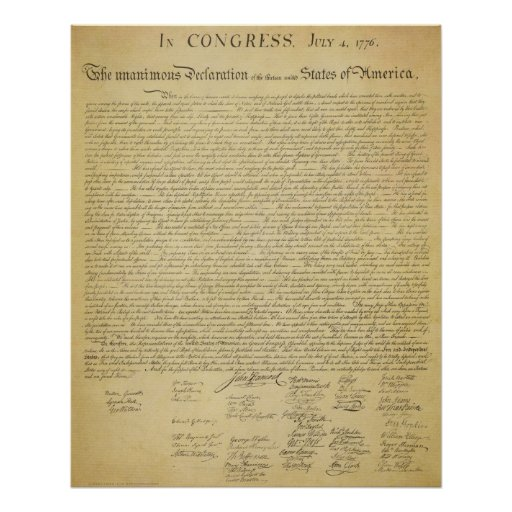 Eloquent image for printable copy of the declaration of independence