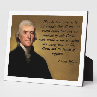 Declaration of Independence Quote Plaque