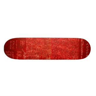 Declaration of Independence red Skateboard