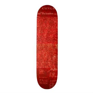 Declaration of Independence red Skateboard Deck