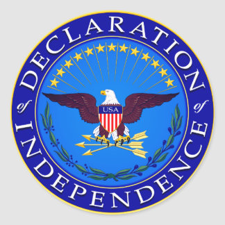 Declaration Of Independence Round Stickers