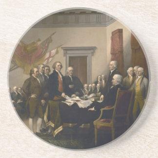 Declaration of Independence Sandstone Coaster