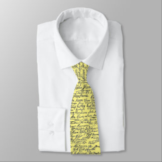 Declaration of Independence Signatures US History Neck Tie