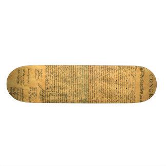 Declaration of Independence Skateboard