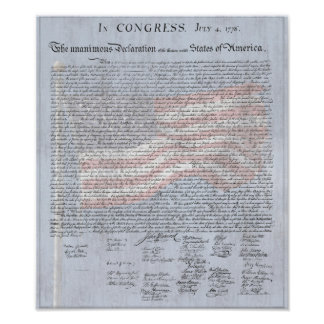 Declaration of Independence US History Classroom Poster