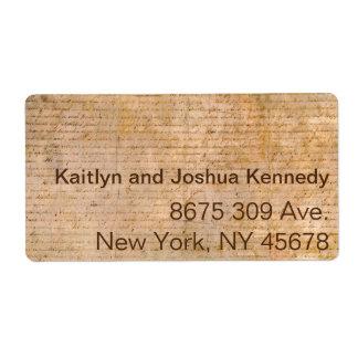 Declaration of Independence USA Patriotic Address Label