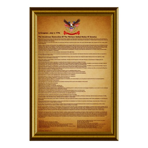 """Declaration of Independence V-2-Style-2 40""""X60"""" Poster"""