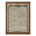 Declaration of Independence with Founding Fathers Poster