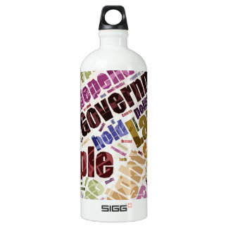 Declaration of Independence Word Cloud Aluminum Water Bottle