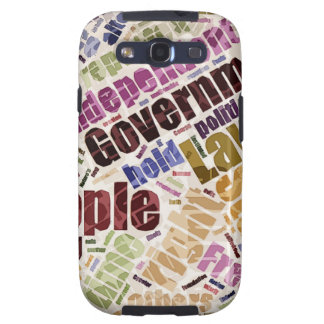 Declaration of Independence Word Cloud Samsung Galaxy SIII Covers