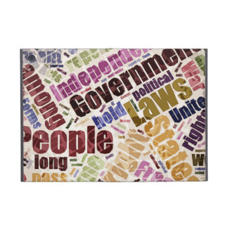 Declaration of Independence Word Cloud iPad Mini Cover