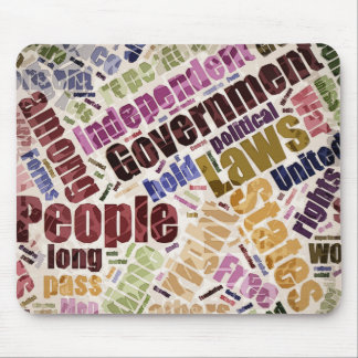 Declaration of Independence Word Cloud Mouse Pad