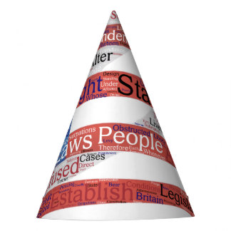 Declaration of Independence Word Cloud on Flag Party Hat