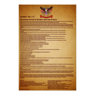 Declaration of IndependenceV-1-Style-1 Poster