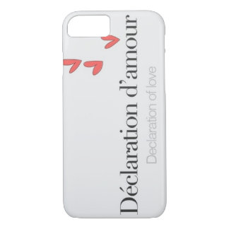 Declaration of love. iPhone 8/7 case