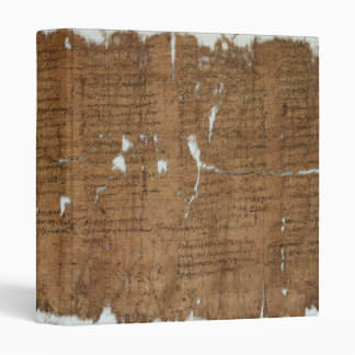 Declaration of Prices Papyrus dated 319 A.D. 3 Ring Binder