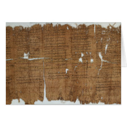 Declaration of Prices Papyrus dated 319 A.D. Card
