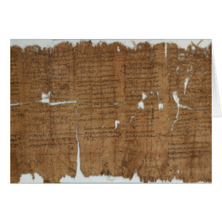 Declaration of Prices Papyrus dated 319 A.D. Greeting Card