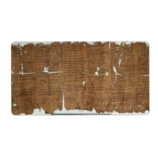 Declaration of Prices Papyrus dated 319 A.D. Label