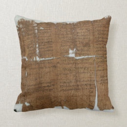 Declaration of Prices Papyrus dated 319 A.D. Throw Pillow