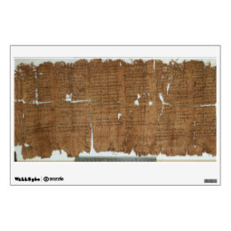 Declaration of Prices Papyrus dated 319 A.D. Wall Sticker
