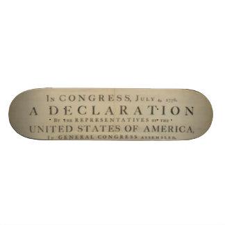 declaration of skatependence skateboard deck