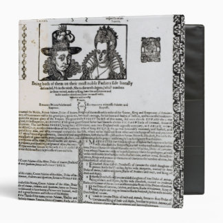 Declaration of the marriage of Frederick V 3 Ring Binder