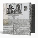 Declaration of the marriage of Frederick V Vinyl Binders
