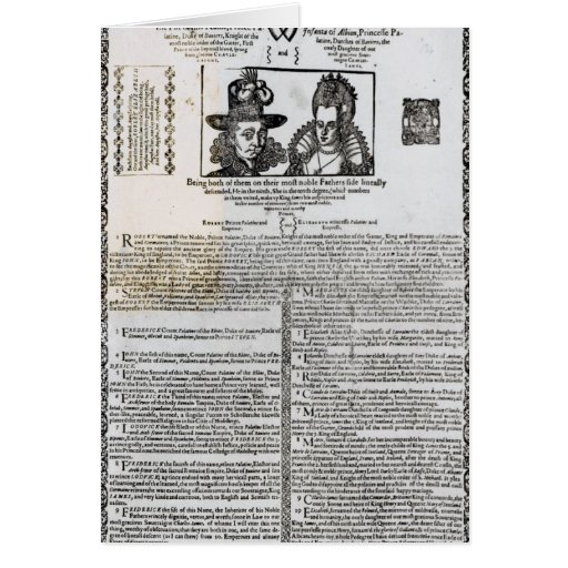 Declaration of the marriage of Frederick V Card