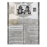 Declaration of the marriage of Frederick V Post Card