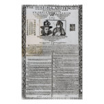 Declaration of the marriage of Frederick V Poster