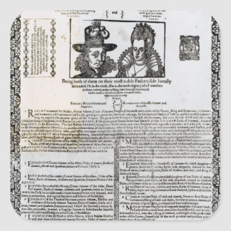 Declaration of the marriage of Frederick V Square Sticker