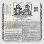 Declaration of the marriage of Frederick V Stickers